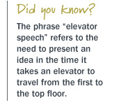 elevator speech origin