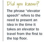 elevator speech origin