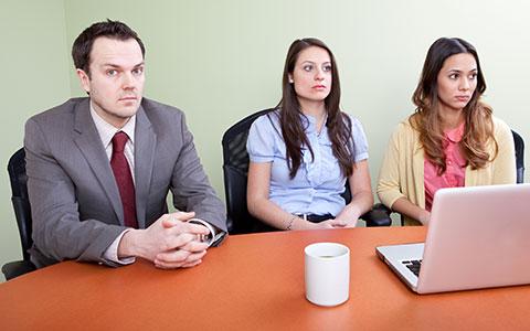 employees not talking