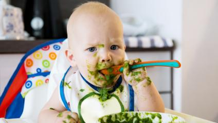 A messy baby is like a  messy employee town hall meeting