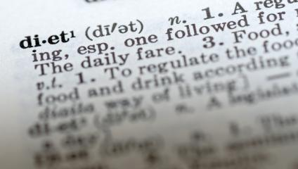 Diet in the dictionary reminds us to cut words in employee communication