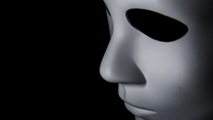 A scary mask. Not as scary as what frightens employees about communication.