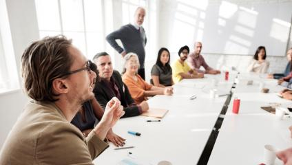 Leaders at a change workshop