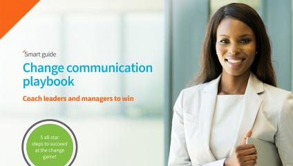 change communication playbook coach leaders and managers