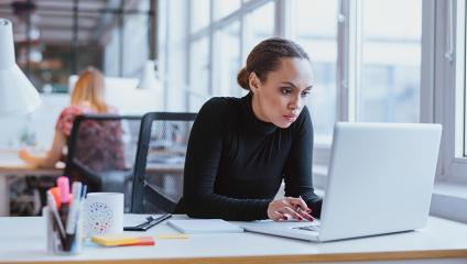 woman reducing workload
