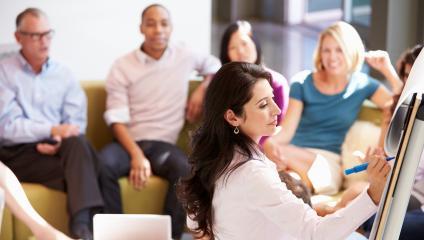 Communicators in a focus group