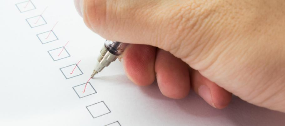 A checklist is a great project tool to use when managing an employee communication survey