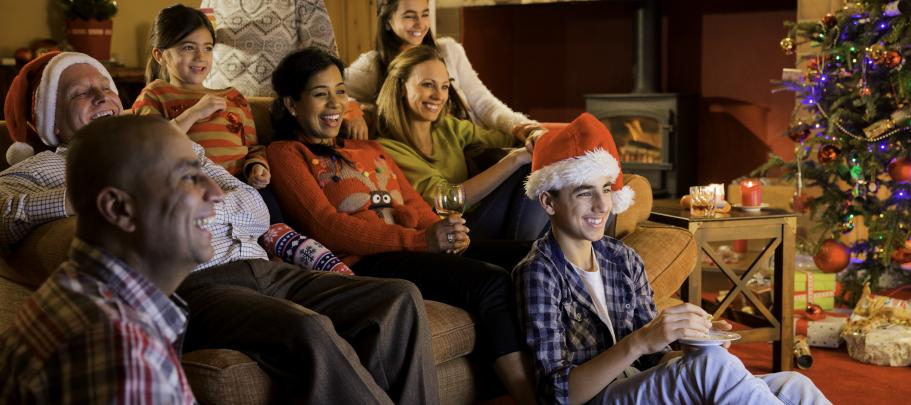 Watching holiday movies to inspire timely internal communication
