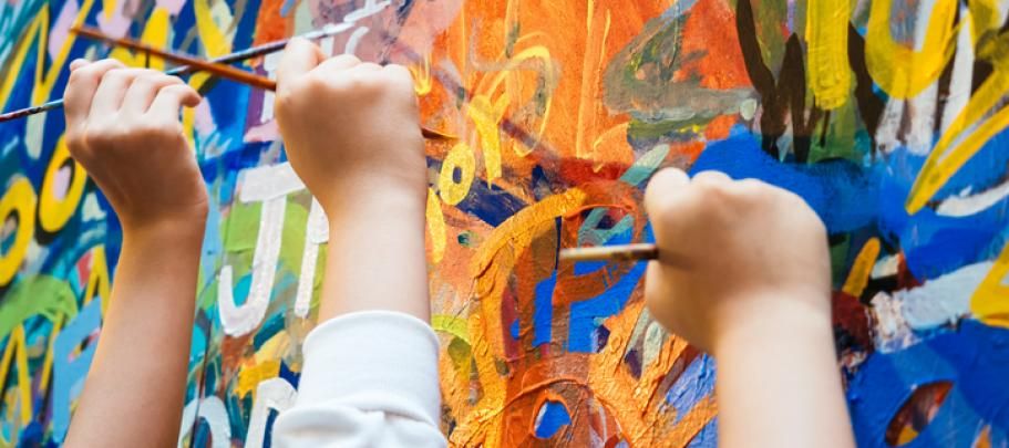 Painting on walls gives employees a chance to express themselves