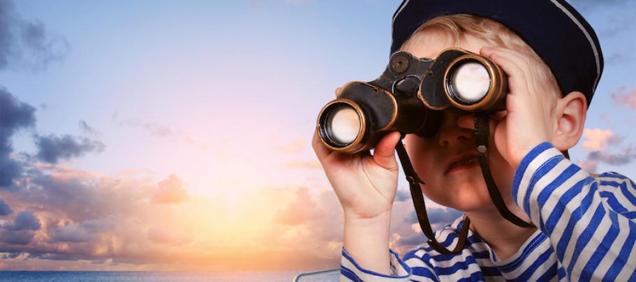 Sailor boy reminding executives that loose lips sink ships