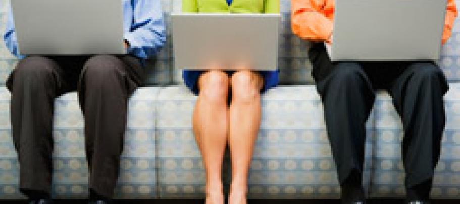 Reading employee communications newsletter