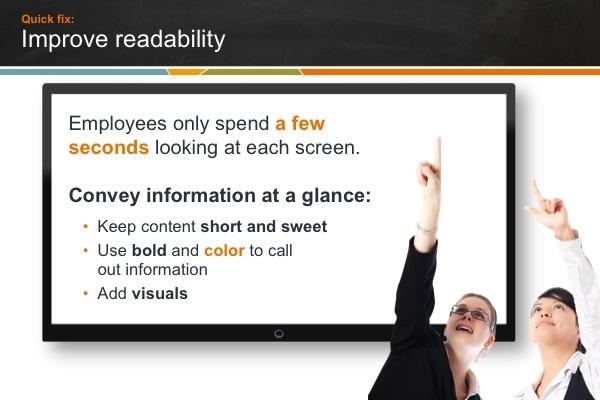 Digital sign readability