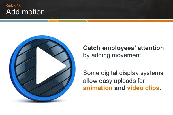 Digital sign motion graphics and video