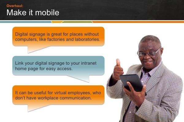 Digital sign mobile links