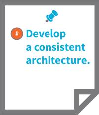 1. Develop a consistent architecture