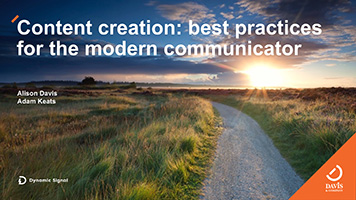 content creation - best practice modern communicator